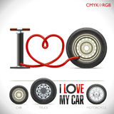 Amo la mia automobile Immagini Stock