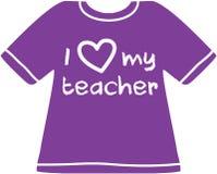 Amo la mia camicia dell'insegnante Fotografia Stock