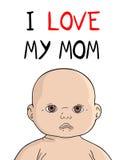 Amo la mia mamma Fotografie Stock Libere da Diritti