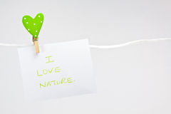 Amo la natura Fotografie Stock