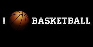 Amo la pallacanestro Immagini Stock