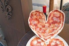 Amo la pizza italiana Imágenes de archivo libres de regalías