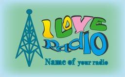Amo la radio 2 Fotografia Stock Libera da Diritti