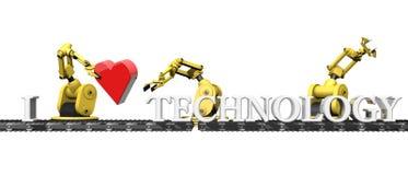 Amo la tecnologia Fotografie Stock