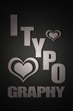 Amo la tipografia Fotografia Stock Libera da Diritti