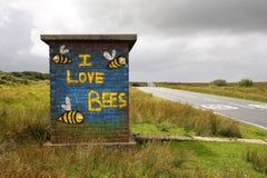 Amo las abejas murales Imagen de archivo libre de regalías