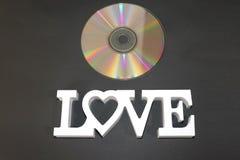 Amo le canzoni di Romantics su questo CD meraviglioso fotografia stock libera da diritti