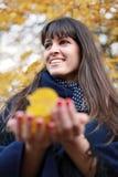 Amo le foglie di autunno Fotografia Stock Libera da Diritti