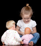 Amo le mie bambole Fotografia Stock