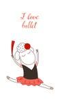 Amo le pecore di balletto illustrazione di stock
