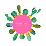 Amo los cactus stock de ilustración