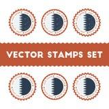 Amo los sellos del vector de Qatar fijados Foto de archivo libre de regalías