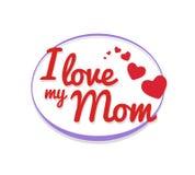 Amo mi vector de la mamá Foto de archivo
