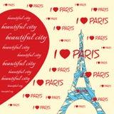 Amo Parigi Fotografia Stock Libera da Diritti