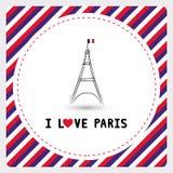 Amo Parigi card6 Immagini Stock Libere da Diritti