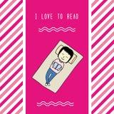 Amo a read2 Fotografie Stock