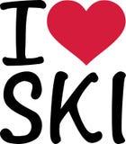 Amo a Ski Winter stock de ilustración
