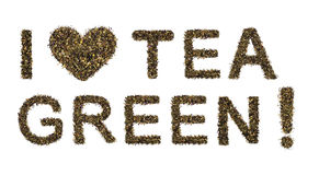 Amo té verde Imagen de archivo libre de regalías