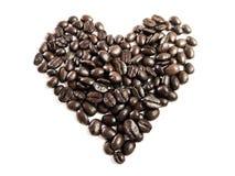 Amo U fatto dai chicchi di caffè Immagini Stock