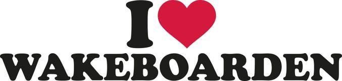 Amo wakeboarden Fotografia Stock
