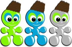 Amoeba mascot Stock Images