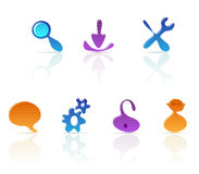 Amoeba-style icons Stock Photo