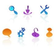 Amoebe-stijl pictogrammen Stock Foto
