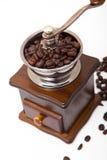 Amoladora aislada del grano de café fotografía de archivo