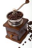 Amoladora aislada del grano de café fotografía de archivo libre de regalías