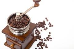 Amoladora aislada del grano de café imágenes de archivo libres de regalías