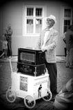 Amoladora de órgano en Kampa Imagenes de archivo