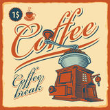 Amoladora de café - café Fotografía de archivo libre de regalías