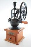 Amoladora de café de la vendimia fotografía de archivo