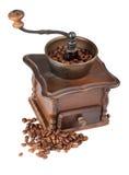 Amoladora de café del vintage fotografía de archivo