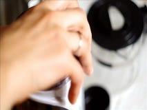 Amoladora de café eléctrica almacen de metraje de vídeo