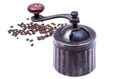 Amoladora de café mecánica manual del metal Fotos de archivo libres de regalías