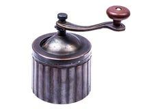 Amoladora de café mecánica manual del metal Foto de archivo