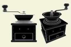 Amoladora de café pasada de moda 01 ilustración del vector