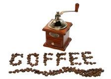 Amoladora de café pasada de moda fotografía de archivo libre de regalías