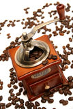 Amoladora de café pasada de moda Imágenes de archivo libres de regalías