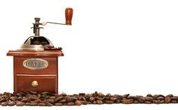 Amoladora de café pasada de moda imagen de archivo libre de regalías