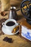 Amoladora de café retra fotografía de archivo libre de regalías