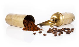 Amoladora de café vieja Fotos de archivo