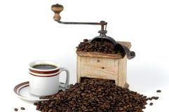 Amoladora de café vieja Imagenes de archivo