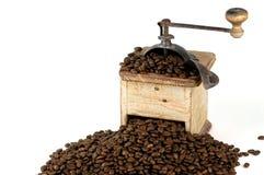 Amoladora de café vieja Foto de archivo libre de regalías