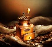 Amoladora de café Foto de archivo libre de regalías