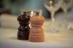 Amoladora de la sal y de pimienta foto de archivo libre de regalías