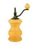 Amoladora de pimienta de madera aislada en blanco Foto de archivo libre de regalías