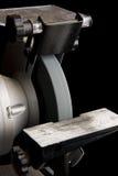 Amoladora del banco del metal imagenes de archivo