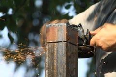 Amoladora para corte de metales Foto de archivo libre de regalías
